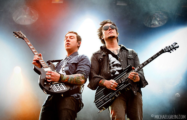 See full photo gallery of Avenged Sevenfold playing live at Pinkpop Festival 2011