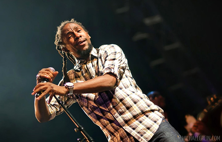 See full photo gallery of Jah Cure playing on the main stage at Garance Reggae Festival
