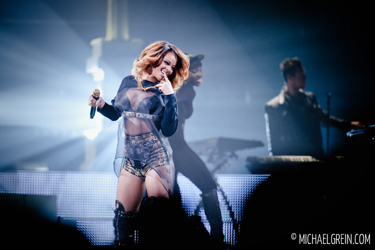 See full photo gallery of Rihanna live at Lanxess Arena in Cologne 2013