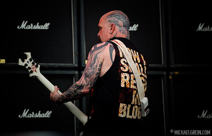 See full photo gallery of Slayer playing live at Sonisphere Fance  2011
