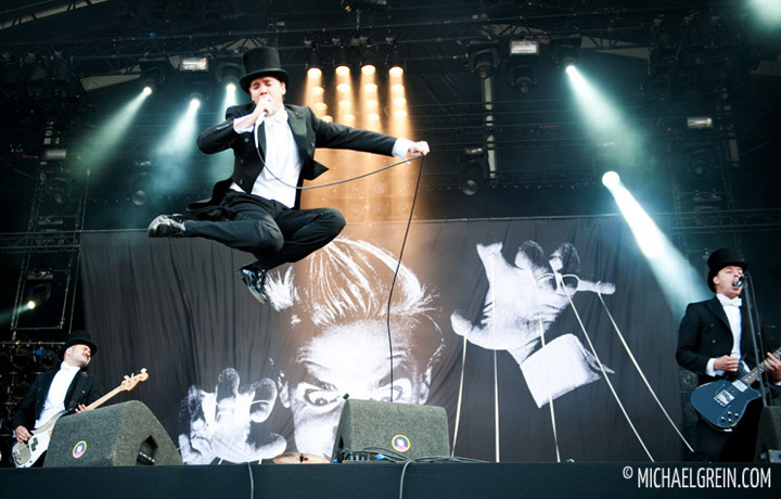 See full photo gallery of The Hives playing live at Pinkpop Festival 2012